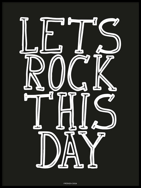 Poster: Let's rock this day, av Utgångna produkter