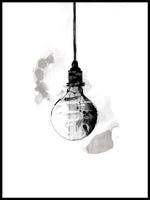 Poster: Light Bulb, av Lotta Larsdotter