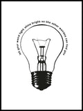 Poster: Light Bulb, av Grafiska huset