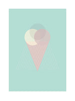 Poster: Lilly´s icecream, mint, av Utgångna produkter
