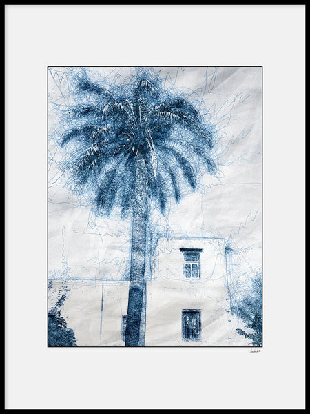 Poster: Lines: House and palms, av A chapter 5 - Caro-lines
