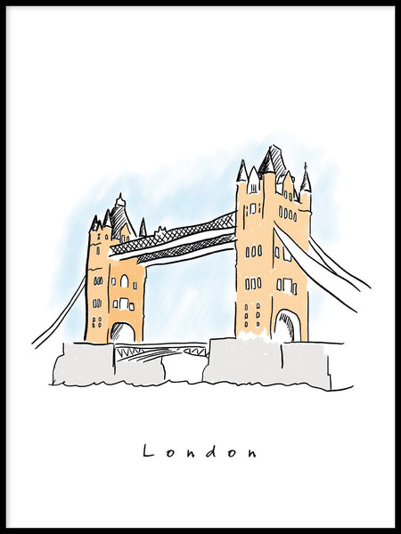 Poster: London -Tower Bridge, av Forma Nova