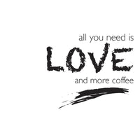 Poster: Love and coffee, av Utgångna produkter