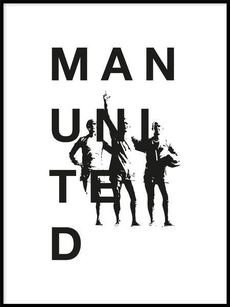Poster: Manchester United legends, av Tim Hansson