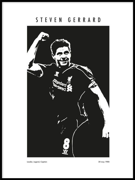 Poster: Memorable players Gerrard, av Tim Hansson
