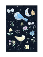 Poster: Moon Forest Birds, av Susse Collection