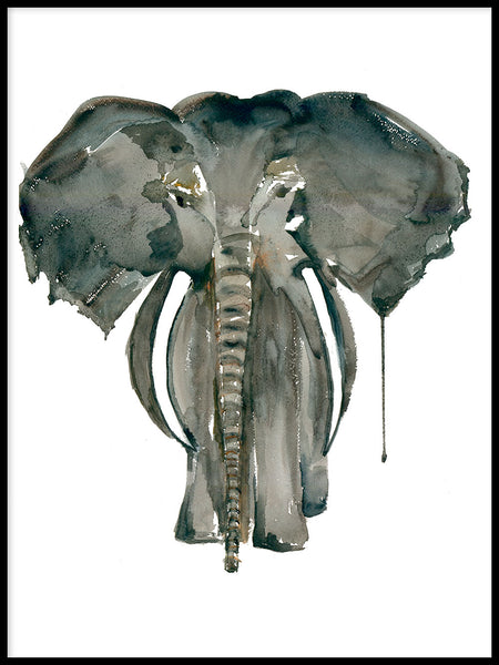 Poster: Mor Elefant, av Annas Design & Illustration