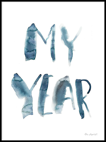 Poster: My year, av Miss Papperista
