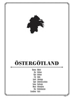 Poster: Östergötland, av Wright - write what is right - by Caro-lines