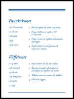 Poster: Pannkaksskolan, av The Wall Cookbook