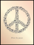Poster: Peace med text, aprikos, av GaboDesign