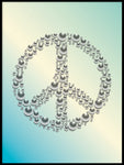 Poster: Peace, turkos, av GaboDesign