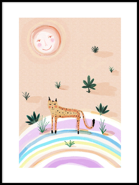 Poster: Rainbow Leopard, av Susse Collection