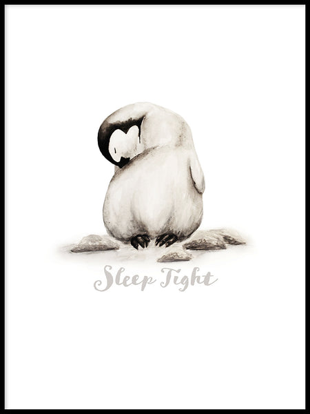 Poster: Sleep Tight - Pingvin, av Ekkoform illustrations