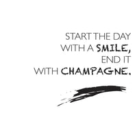 Poster: Smile and champagne, av lindasofieolsson