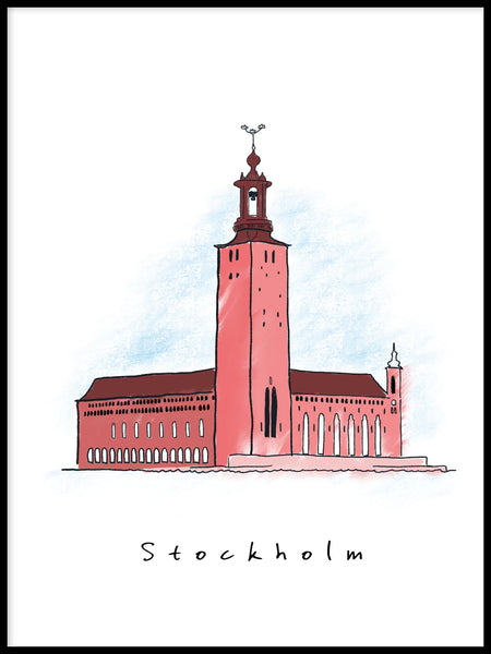 Poster: Stockholm - City Hall, av Forma Nova