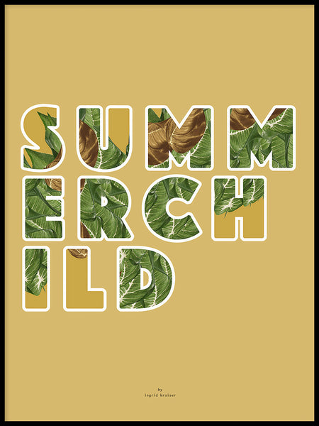 Poster: Summerchild, av Ingrid Kraiser - ingrid art design