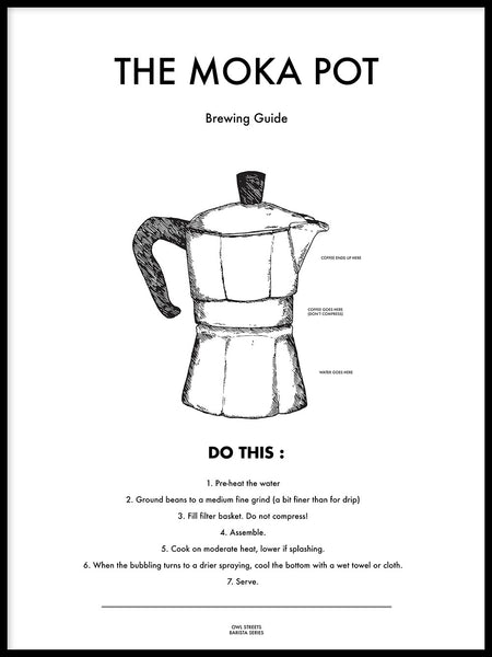 Poster: The Moka Pot, av Owl Streets