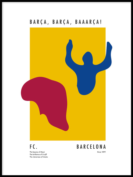 Poster: The Power of Barcelona, av Tim Hansson