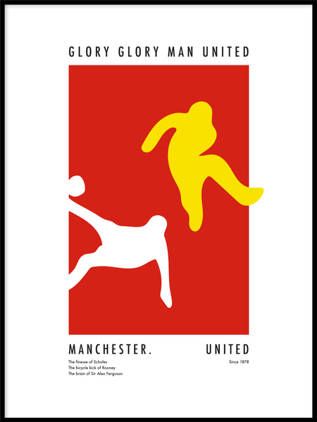 Poster: The Power of Manchester United, av Tim Hansson