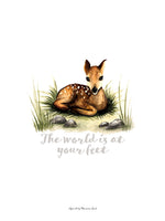 Poster: The world is at your feet (Deer), av Ekkoform illustrations