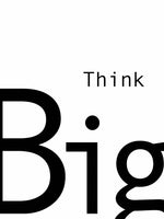 Poster: Think big, av Anna Mendivil / Gypsysoul