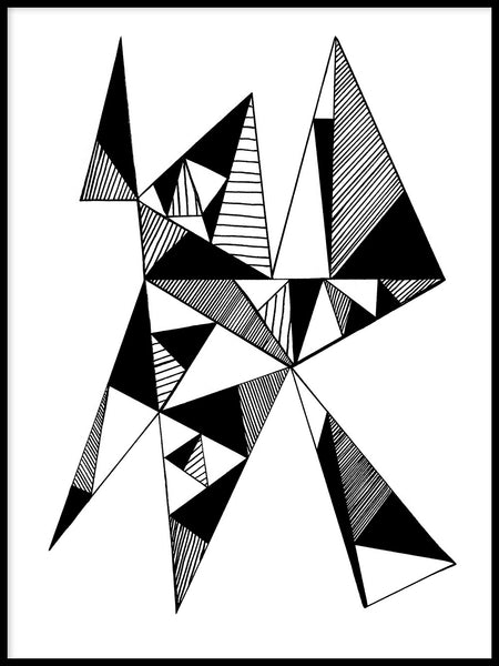 Poster: Triangles, av Blacklines