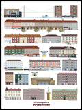 Poster: Visual guide to Gothenburg part I, av Pop-in Local graphics