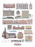 Poster: Visual guide to Gothenburg part II, av Pop-in Local graphics