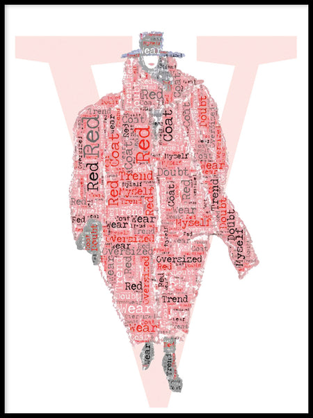 Poster: Vogue Cover Red Coat, av Jiashen Han