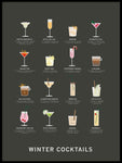 Poster: Winter Cocktails, av Paperago