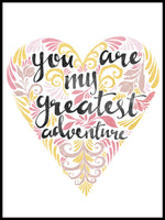 Poster: You are my greatest adventure, pink, av Sofie Rolfsdotter