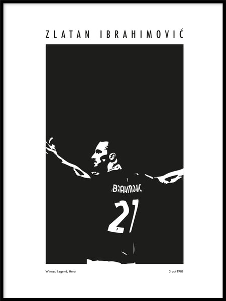 Poster: Zlatan Ibra Moments Legend Without, av Tim Hansson