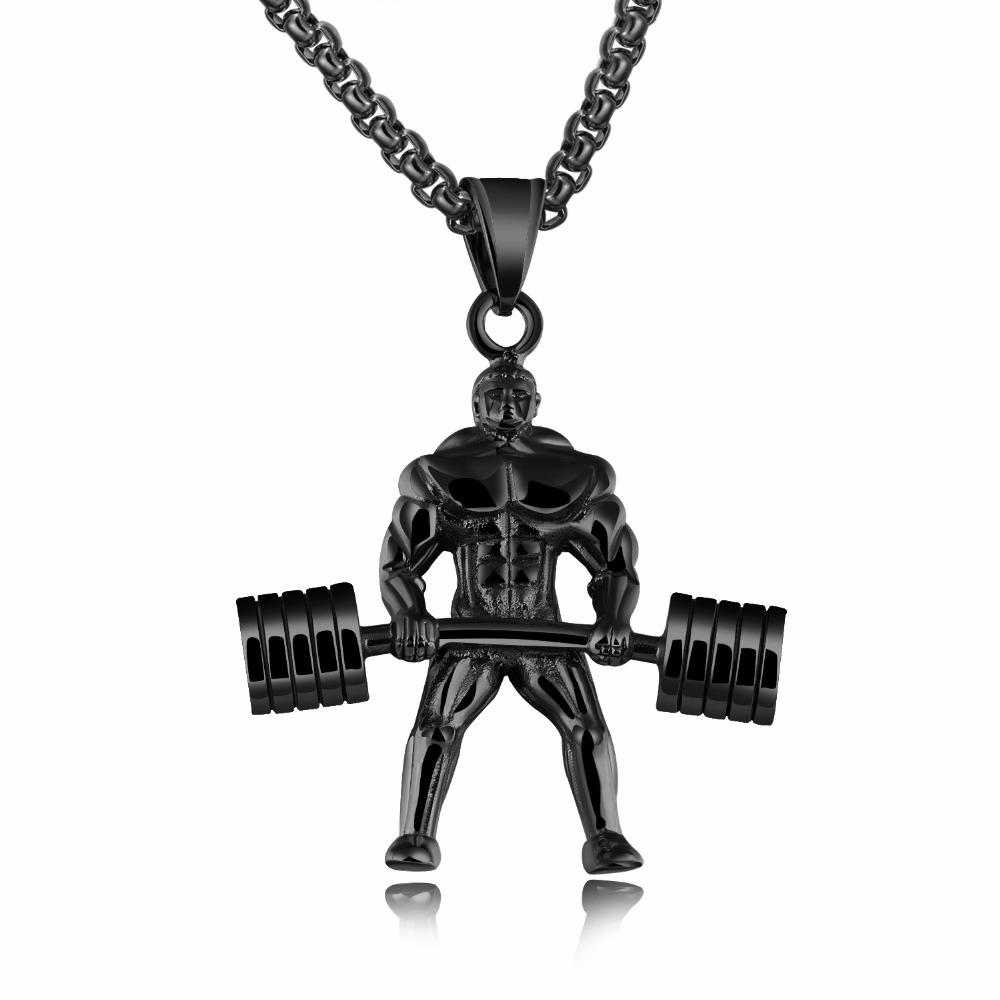 Dumbbell  Necklace