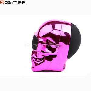 Metallic Skull Shape Wireless Bluetooth Speaker