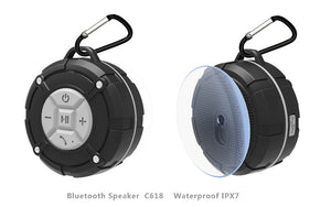 Waterproof Outdoor Bluetooth Speaker with Suction Cup