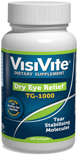 VisiVite Dry Eye Relief TG-1000 - 4 per day - SHOP VISIVITE
