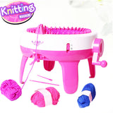 Manual knitting machine for children