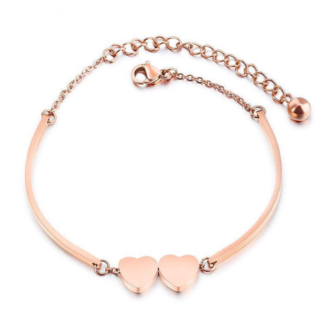 Rose Gold Romantic Charm Bracelet
