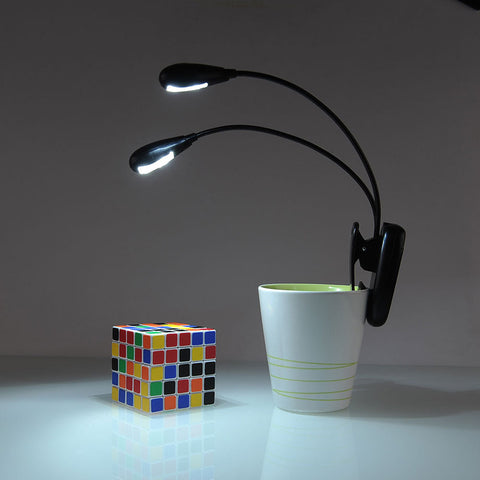 Flexible Dual Head Clip-On Book Light