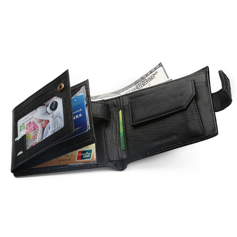 Men's Leather Bifold Large Capacity Wallet