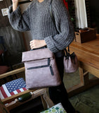 Two piece leather ladies shoulderbag