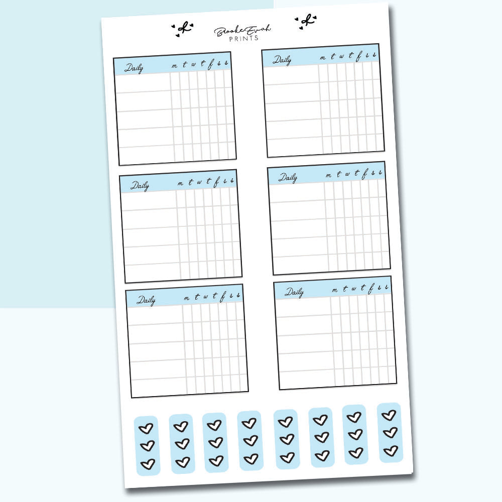 Habit Tracker Boxes - H15 - BrookeEvahPrints