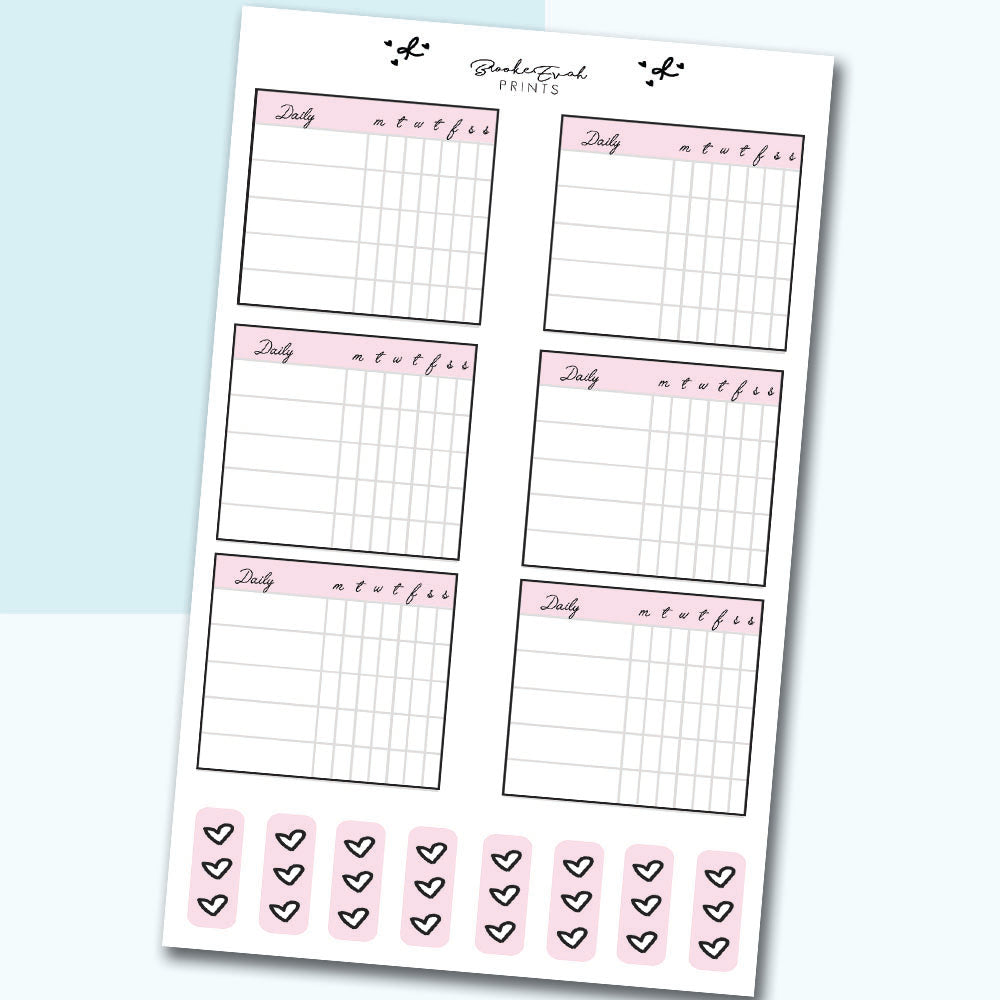 Habit Tracker Boxes - H16 - BrookeEvahPrints