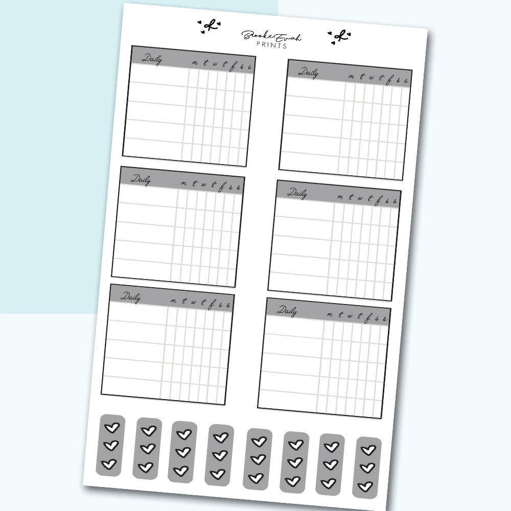 Habit Tracker Boxes - H17 - BrookeEvahPrints