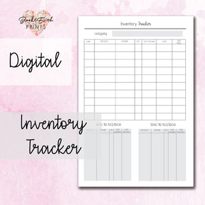 Inventory Tracker - BrookeEvahPrints