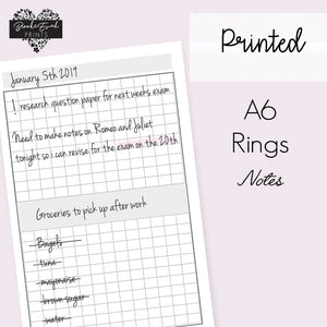 A6 Rings Grid Notes - BrookeEvahPrints