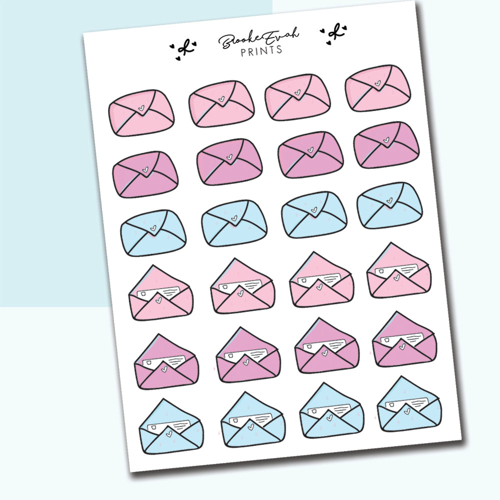 Happy Mail Stickers - BEP01 - BrookeEvahPrints
