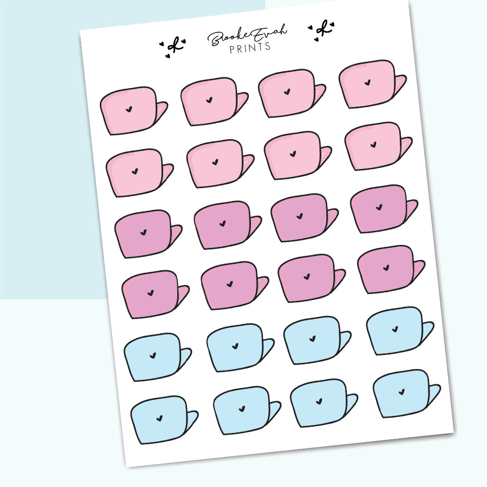 Pastel Laptop Stickers- BEP02 - BrookeEvahPrints