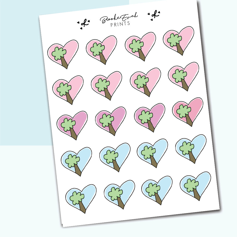 Park Heart Stickers- BEP04 - BrookeEvahPrints